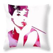 Audrey Pop Art Throw Pillow