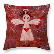 Audrey The Angel Throw Pillow