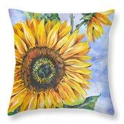 Audrey's Sunflower Throw Pillow