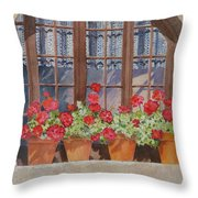 August At The Auberge  Throw Pillow