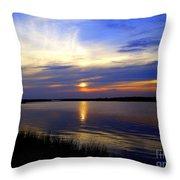 August Sunset Reflection Throw Pillow
