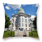 Augusta Capitol Building Throw Pillow