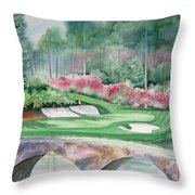 Augusta National 12th Hole Throw Pillow