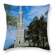 Augustinian Cemetery And Church Throw Pillow