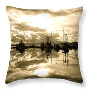 Auke Bay In Sepia Throw Pillow