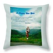 Auld Lang Syne Throw Pillow