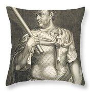 Aullus Vitellius Emperor Of Rome Throw Pillow by Titian