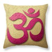 Aum Or Om Symbol Throw Pillow