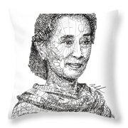 Aung San Suu Kyi Throw Pillow