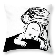 Aunt Jo And Cheychey Throw Pillow
