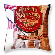 Auntie Skinner's  Riverboat  Club Throw Pillow