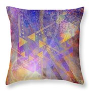 Aurora Aperture - Square Version Throw Pillow