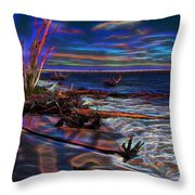 Aurora Borealis Over Florida Throw Pillow