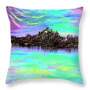 Aurora Borealis Poster Throw Pillow
