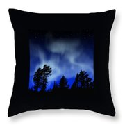 Aurora Borealis Wall Mural Throw Pillow