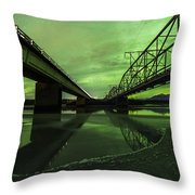 Aurora Bridge Throw Pillow