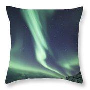 Aurora Twister Throw Pillow