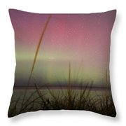 Auroras Over Lake Michigan Throw Pillow