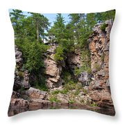 Ausable Chasm 1608 Throw Pillow