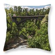 Ausable Chasm Bridge Throw Pillow
