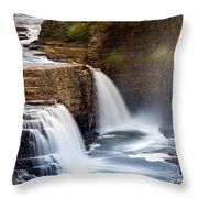 Ausable Chasm Waterfall Throw Pillow