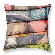 Aussie Dollars 01 Throw Pillow