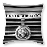 Austin America Grille Emblem -0304bw Throw Pillow