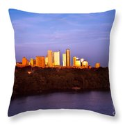 Austin At Last Light Throw Pillow