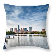 Austin Boardwalk View On Lake Throw Pillow