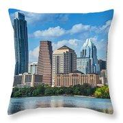 Austin Daytime Skyline Throw Pillow