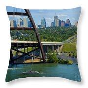 Austin From The 360 Bridge Throw Pillow