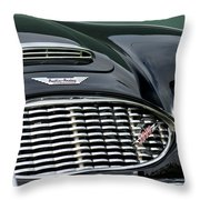 Austin-healey 3000 Grille Emblem Throw Pillow by Jill Reger