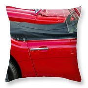 Austin Healey Red Throw Pillow