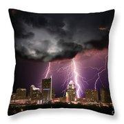 Austin Light Show Throw Pillow