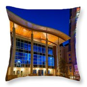Austin Music Hall Throw Pillow