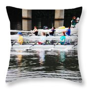 Austin Rowing Throw Pillow