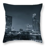 Austin Skyline Throw Pillow