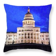 Austin State Capitol Building, Texas - Throw Pillow