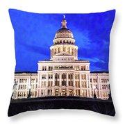 Austin State Capitol Building, Texas - Throw Pillow
