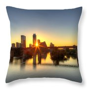 Austin Sunrise Throw Pillow