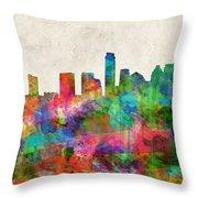 Austin Texas Abstract Panorama 4 Throw Pillow