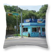 Austin Texas Congress Street Shop Throw Pillow