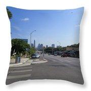 Austin Texas Congress Street View Throw Pillow