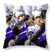 Austin Texas - Marching Band Celebrate Throw Pillow