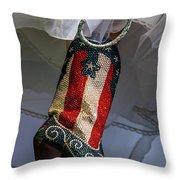 Austin Texas - Red White Blue Sequin Throw Pillow