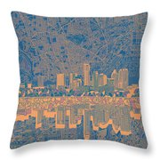 Austin Texas Skyline 2 Throw Pillow
