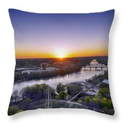 Austin Texas Sunset Hour Throw Pillow