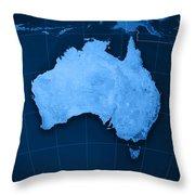 Australia Topographic Map Throw Pillow