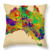 Australia Watercolor   Throw Pillow