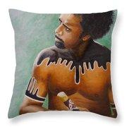 Australian Aboriginal Throw Pillow by David Hawkes